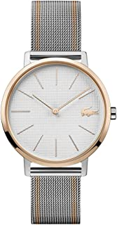 Lacoste Women's Silver White Dial Two Tone Stainless Steel Watch - 2001116