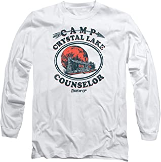 Friday The 13th Game Camp Crystal Lake Counselor Longsleeve T Shirt & Stickers