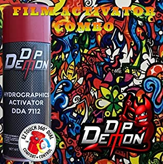 Combo Kit Color Fusion Sticker Bomb Hydrographic Water Transfer Film Activator Combo Kit Hydro Dipping Dip Demon