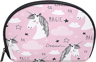 ALAZA Magic Unicorn Half Moon Cosmetic Makeup Toiletry Bag Pouch Travel Handy Purse Organizer Bag for Women Girls