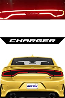 REVION Autoworks 2015-2019 Dodge Charger Tail Light Decal | Racetrack Text Sticker Overlay fits 2015, 2016, 2017, 2018 & 2019 Model Taillight | Charger Accessories