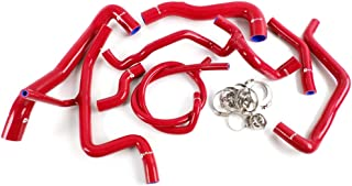 Silicone Radiator Coolant Tube Kit Clamps For VW Volkswagen Golf MK3 VR6 2.8 2.9 1994-1998 Red