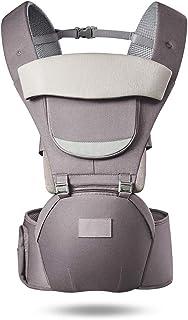 抱っこひも、MAVEEK ベビーキャリア ヒップシート ベビー 抱っこひも 赤ちゃん おんぶ紐 O脚防ぐ 分離可能 多機能 軽量 通気性抜群 ヘッドサポート・収納ポケット付き ベビー用品 出産祝い 男女兼用 洗濯機で洗える グレー