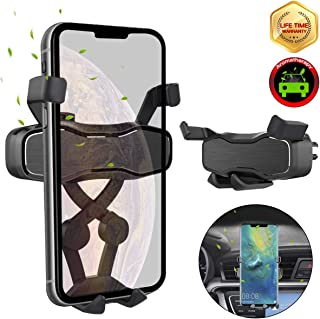 Air Vent Car Phone Mount, Handsfree Gravity Phone Holder for Car, Auto-Clamping Car Phone Holder for iPhone Xs Max Xr Samsung Galaxy S10 Plus S10e Google Pixel 3a and All Smartphone(Black)