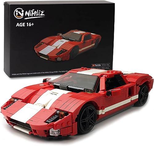 discount Nifeliz Mini GT Sports Car MOC Building Blocks and Construction Toy, Adult Collectible Model lowest Cars Set to Build, 1:14 Scale Race lowest Car Model (928 Pcs) online