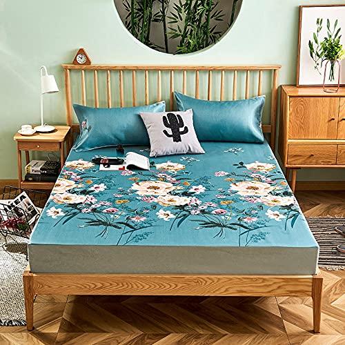 DSman Protector de colchón, con Aloe Vera, (Todas Las Medidas) Juego de tapete de Tres Piezas -12_150cmx200cm