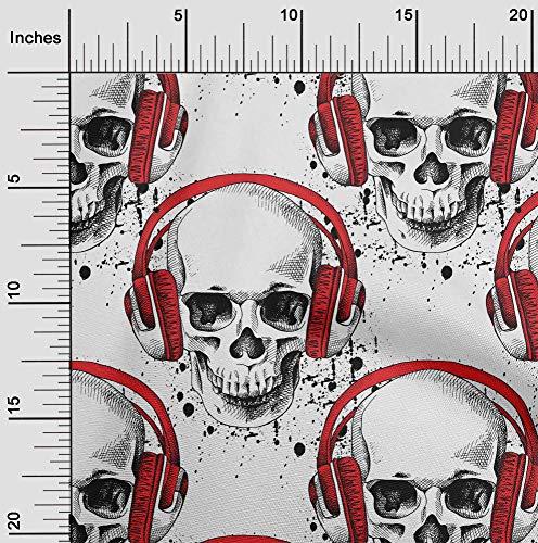 oneOone Flex Algodón Tela cráneo Cráneo Nave Proyectos De La Tela Decoración Impresa Por El Medidor 40 Pulgadas De Ancho