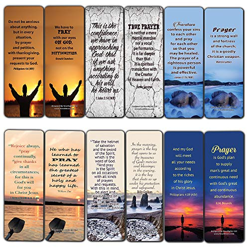 Prayer Bible Verses and Christian Quotes Bookmarks (30-Pack) - Handy Prayer Perfect for Christians