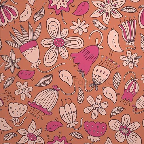 Juego de adhesivos decorativos para azulejos, diseño floral con flores de melocotón, plantas visuales, pedicel de 10,4 x 10,4 cm, vinilo impermeable para decoración del hogar