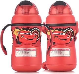 Tazas de paja Pajitas para niños con asas Botellas de agua de acero inoxidable Portátil anti