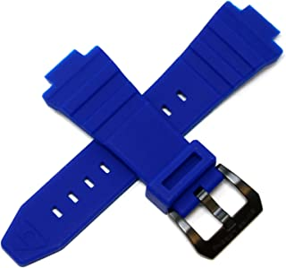 Swiss Legend 30MM Deep Blue Silicone Watch Strap w/Stainless Black Buckle fits 46mm Expedition Watch