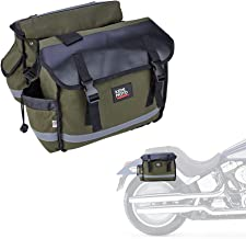 Motorcycle Saddle Bags, Green Scooter Saddlebags with Waterproof Cover, Quick Release Buckle Panniers