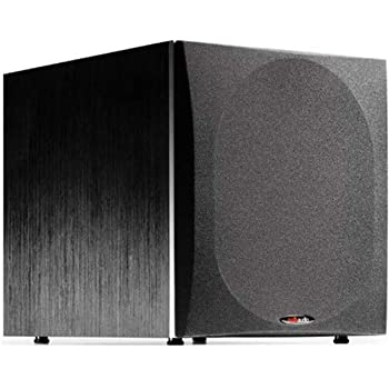 "Polk Audio PSW505 12"" Powered Subwoofer - Deep Bass Impact & Distortion-Free Sound, Up to 460 Watts, Easy Integration with Home Theater Systems"