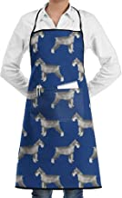 Eco-Friendly Schnauzer Dog Bib Apron Waterdrop Resistant Adjustable with Pockets Cooking Kitchen Aprons for Women Men Chef