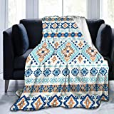 Belgala Blanket Indian Tribal Aztec Pattern Flannel Fleece Throw Blankets for Baby Kids Men Women,Soft Warm Blankets Queen Size and Throws for Couch Bed Travel Sofa 50'X40'