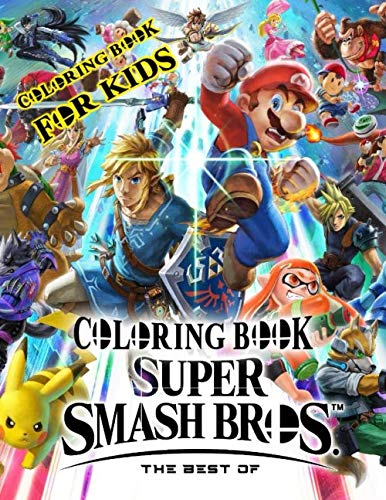 Super Smash Bros The Best of Coloring Book for Kids