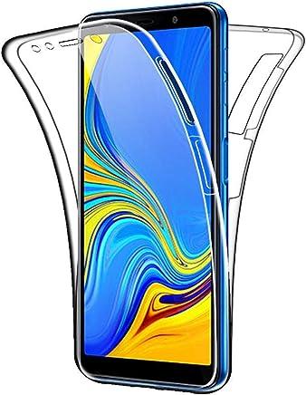 COPHONE® Coque 360 degrès Transparente en Gel Samsung Galaxy A7 2018 Protection Integral et Invisible. Haute qualité