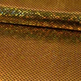 Jersey Stoff Foliendruck Schuppenmuster gold Karneval