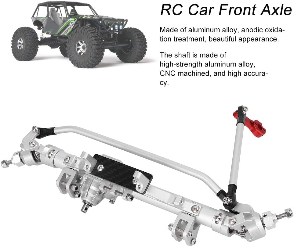 Demeras RC Car Front Axle Aluminium Alloy Front Axle Compatible ...