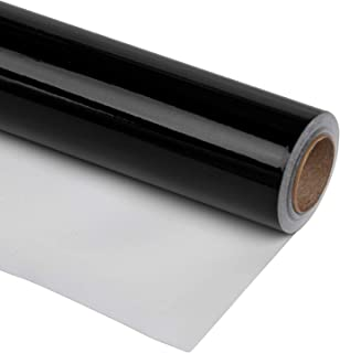 RUSPEPA Black Wrapping Paper-81.5 Sq Ft-Solid Color Paper Perfect for Wedding,Birthday,Christmas,Baby Show Gifts-30Inch X 32.8Feet
