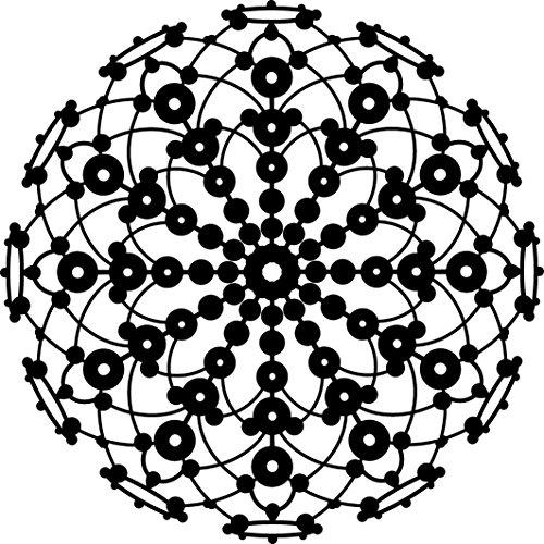 Marabu 0289000000001 - Silhouette Schablone, Ergebnisse mit Negativ - Effekt, PVC frei, wieder verwendbar, zum Sprühen und Spachteln mit Textil- und Acrylfarbe, ca. 30 x 30 cm, Lace Rosette