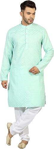 Mens Casual Cotton Kurta Pajama Set