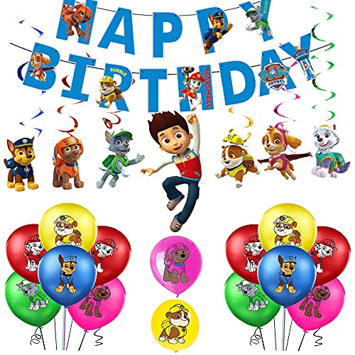 Palloncini Compleanno Paw Dog Patrol Palloncino Decorazioni Compleanno Paw Dog Patrol Striscioni Compleanno Paw Dog Patrol Decorazioni di Turbinii da Paw Dog Patrol Decorazioni Festa