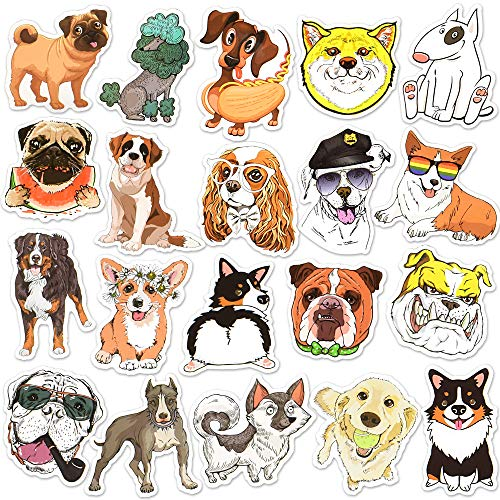 Dog Stickers for Water Bottles Dog Stickers for Kids Dogs Vinyl Sticker Big Dog Stickers for Laptop(50 Pcs)