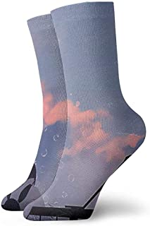 Kevin-Shop Niña arrodillada en la barandilla con Calcetines de Burbuja Vestido Calcetines cálidos para el Trabajo Viajes C...