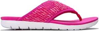 Fit Flop Womens Artknit Toe Thong Sandals in Pink.
