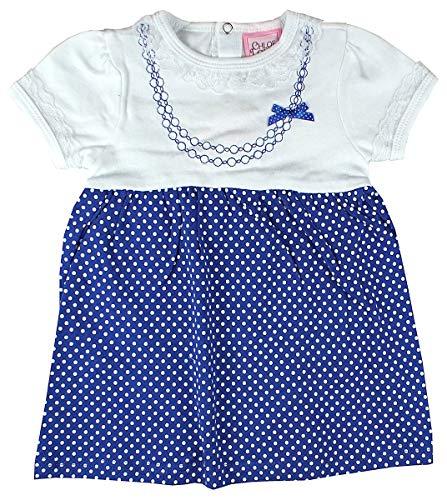 Chloe Louise Bébé Filles Dentelle Bordure Pois Jupe Coton Robe Tailles de Nouveau-Né pour 9 Mois - Bleu, 6-9 Months