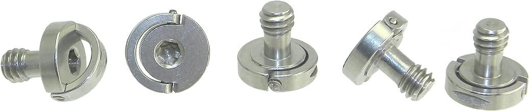 5 x Short Mini D-Ring Hinged Screw 1/4