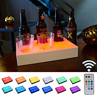 LED Liquor Bottle Display Lights with Remote Control, Color Changing Illuminated Bottle Shelf Drink Wine Lamp for Bar, Pub, Bistro, Drink, Syrup, Party Decor