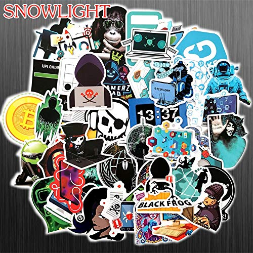 Waterdichte Hackers Cartoon Stickers Voor Kinderen Bagage Koffer Laptop Telefoon Skateboard Graffiti Geek Stickers 50 stks