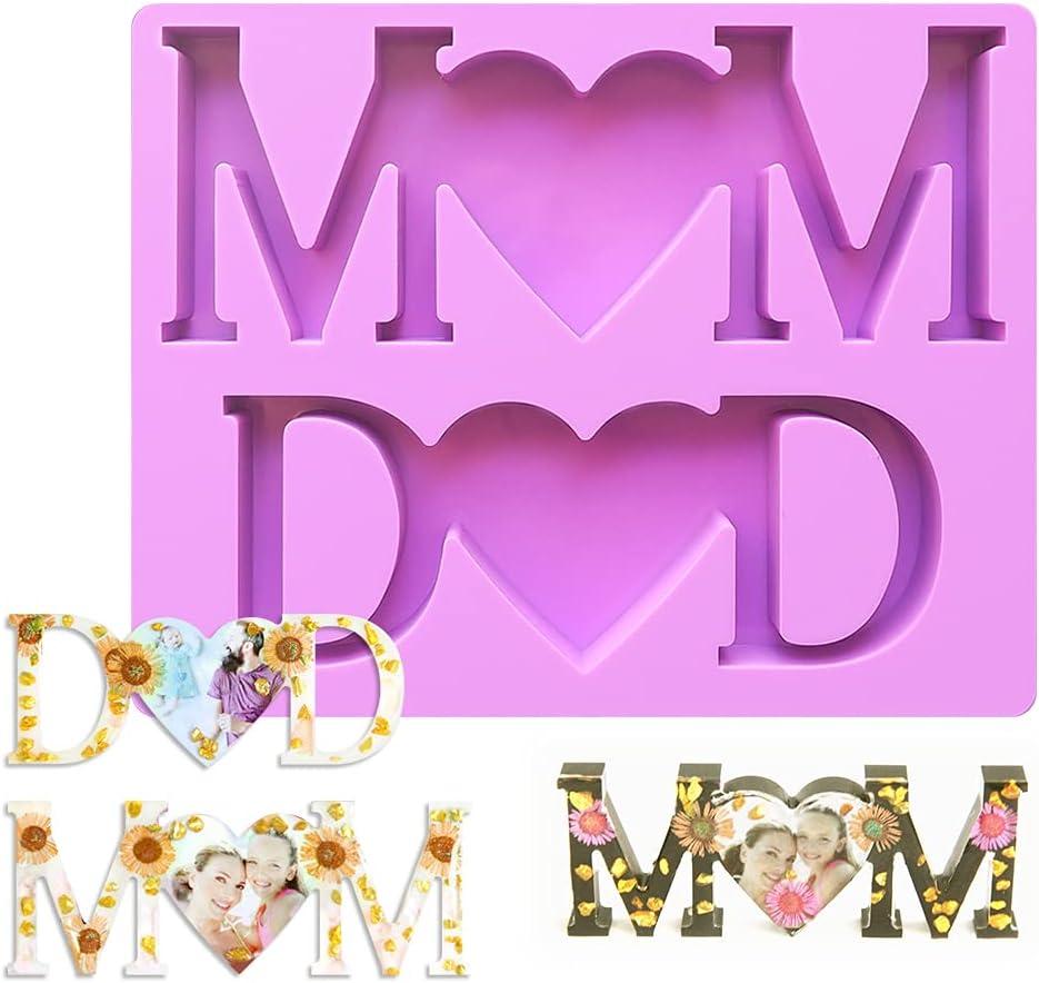 Finally resale start MOM DAD Letter Resin Photo Mold Popular product Frame