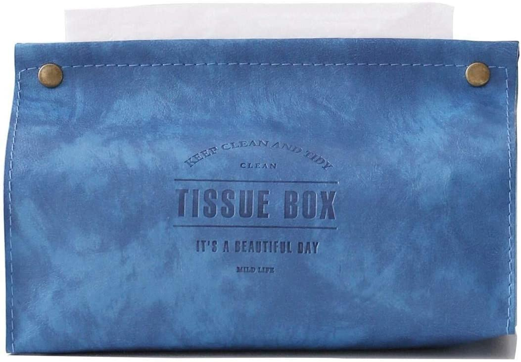 Tissues box cover Cube Box We OFFer at Don't miss the campaign cheap prices Tis Napkin Tray Leather Thick