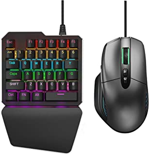 Delta essentials Keyboard and Mouse Set Built in Adapter for PS4/PS3/Xbox One/Nintendo Switch Support FPS Games