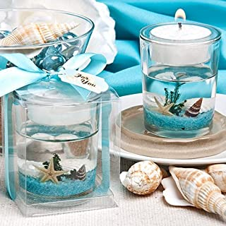 Stunning beach-themed candle favor [SET OF 24]