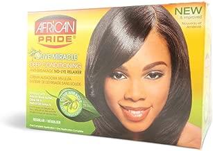 African Pride No Lye Relaxer Kit, Regular (Pack of 2)