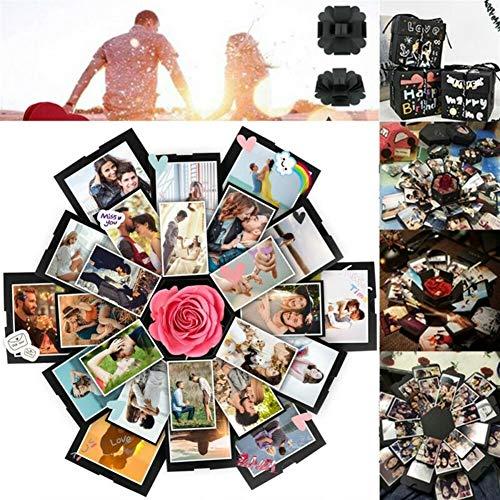 Cumpleaños aniversario globo Globos Decoraciones DIY de San Valentín DIY del regalo de boda del álbum de foto Sorpresa Sorpresa explosión regalos de cumpleaños Creative Box Album de fotos del libro de