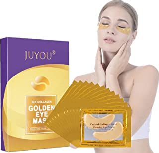 JUYOU 24K Gold Under Eye Patch, Eye Mask, Collagen Eye Patch, Eye Detox Patch For Anti-wrinkles, Puffy Eyes, Dark Circles, Fine Lines Treatment 24Pairs