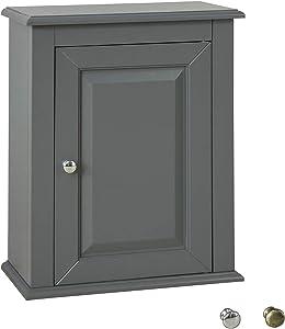 SoBuy FRG203-DG Hängeschrank mit Einer Tür Wandschrank Badschrank Küchenschrank Medizinschrank Dunkelgrau BHT ca: 40x49x18cm