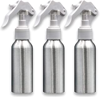 RVOF Aluminum Body Empty Spray Bottle 100ml, Small Fine Mist, Refillable Spray Container -for Hair Care, Cleaning Solutions -Brown (3Pcs Pack)