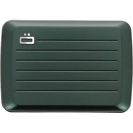 Ögon Smart Wallets - Stockholm V2 Aluminium Wallet - Metal lock and water resistant - RFID Blocking Card holder - Up to 10 Cards and Banknotes - Platinium