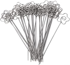 Honbay DIY Flower Shape Ring Loop Craft Wire Clip Table Card Note Photo Memo Holder Metal Clamp Clay Cake Decoration Accessories, 30 Piece