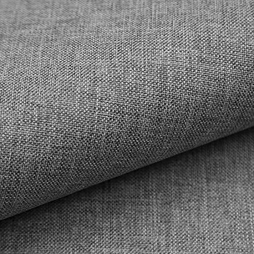 HEKO PANELS Torino Polsterstoff Möbelstoff Meterware - z.B. Stoff für Stühle oder Eckbank Bezug - Grau