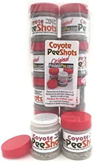Predator Pee Coyote Pee Shots - Territorial Marking Scent - Creates Illusion That Coyote is Nearby - 8 Pack