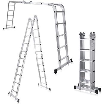 MAXCRAFT Escalera multifunción 6 en 1 de aluminio (5,92 m): Amazon ...