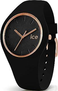 Ice-Watch - ICE glam Black Rose-Gold - Montre noire pour femme avec bracelet en silicone