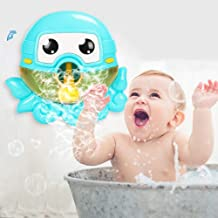 Baby Bath Bubble Machine Automatic Bubble Blower Battery Operated Musical Octopus Bath Bubble Toys for Infant Baby Children Kids Happy Tub Time